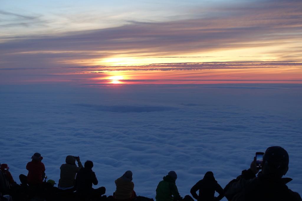 Die Sonne überm Fujiyama (Mount Fuji)