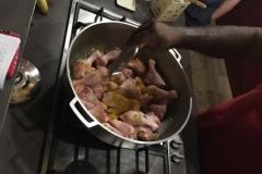 Kochstunde mit unserem Host auf Guadeloupe