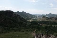 Aussicht vom Kloster in den Terelj Nationalpark.