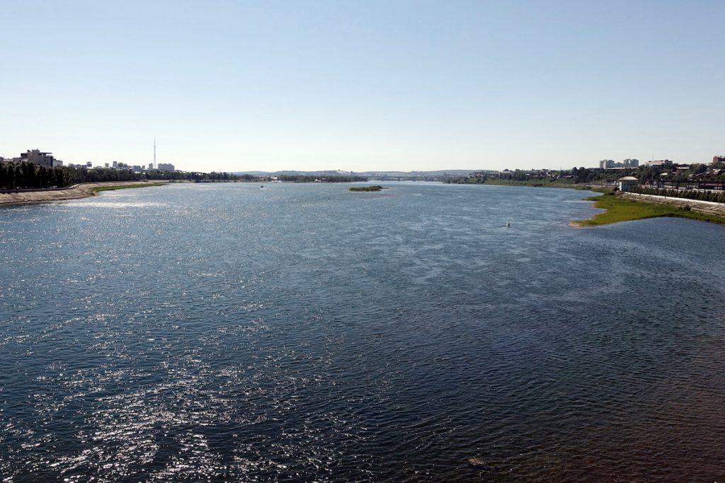 Die Angara in Irkutsk bei Tag ganz nett...