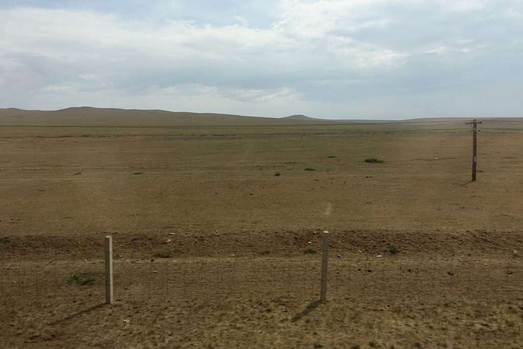 Immer weiter kommt man zur Wüste Gobi.