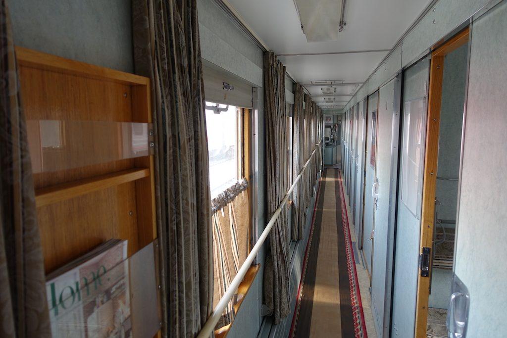 Von Irkutsk nach Ulaanbaatar sieht der Zug schon orientalischer aus.