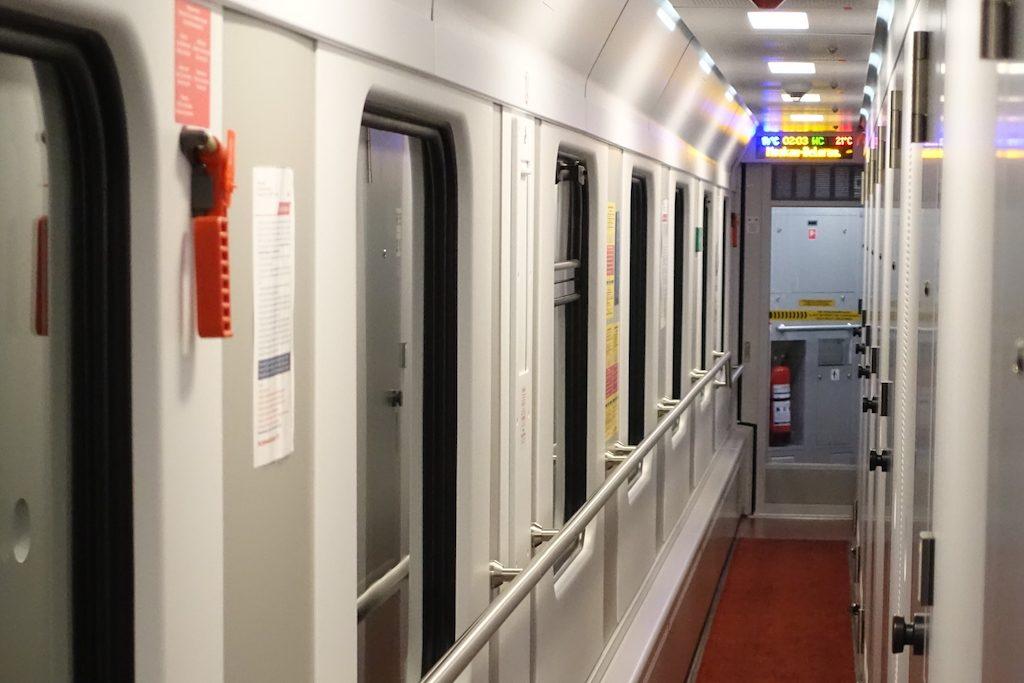 Der Zug EN 453 von Paris über Frankfurt nach Moskau ist der modernste Zug.