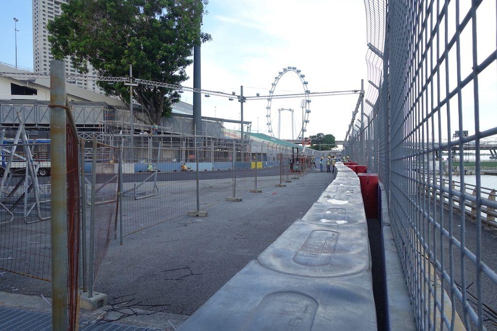Für das Formel 1 Nachtrennen in Singapur am 15. bis 17. September waren wir zu früh, trotzdem Irre was da alles aufgebaut wird.