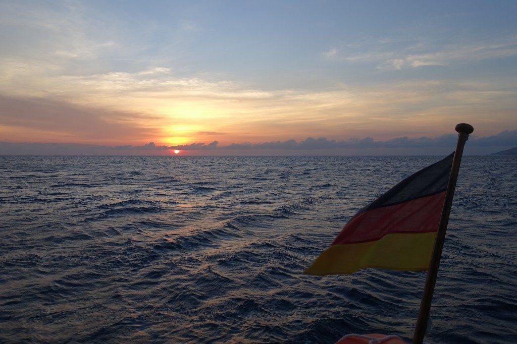 Sonnenaufgang auf der Runaway.