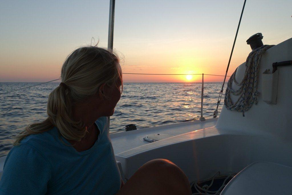 Sundowner auf See.