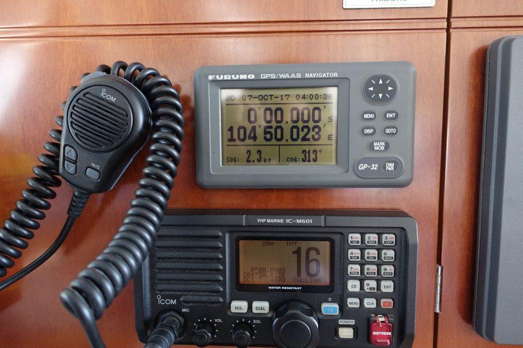 Äquatorüberquerung, yeah, nachdem wir mit dem Flugzeug schon ein paar Mal drüber sind, nun mit dem Segelboot