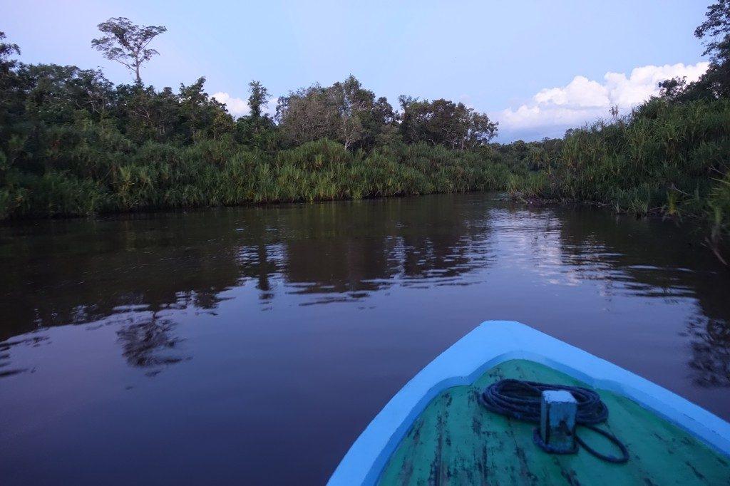 Abends ist der Fluss bereits schmaler