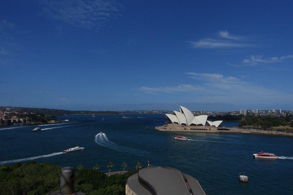 Da isse die Oper, von der Harbour-Bridge!