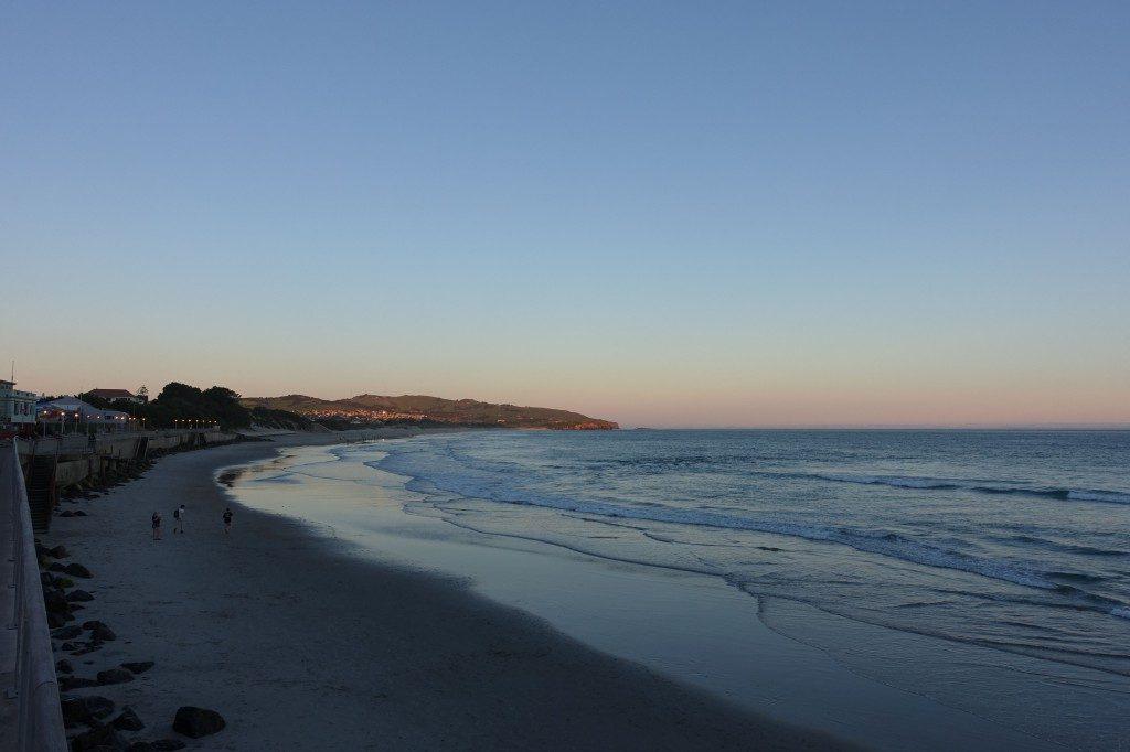 Saint Clair Strand in Dunedin, hier gabs Abends immer schön Takeaway-Essen.