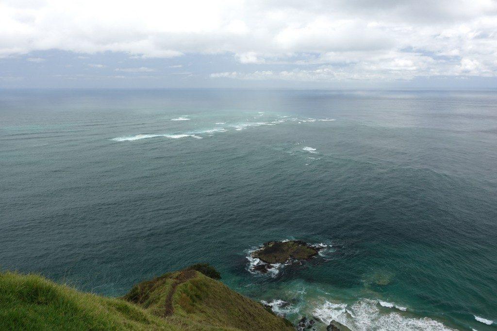 Hier treffen sich Tasman See und Pazifik und erzeugen abgefahrene Wellen.