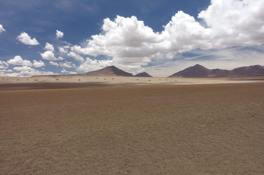 Salvador-Dali-Wüste, ziemlich genau so surrealistisch wie der Kollege unterwegs war.