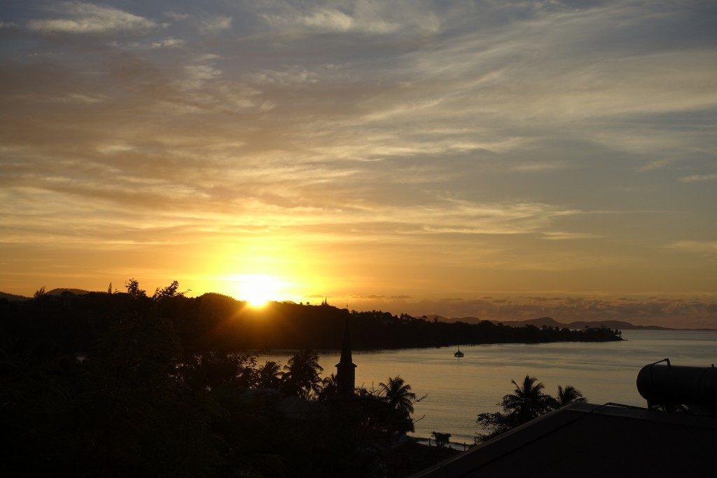 Sunset und ohne Ton auch ganz idyllisch :-)