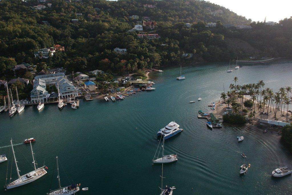 Manche sagen: Fast wie ein Bergsee die Marigot Bay auf St. Lucia.