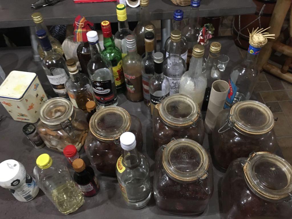 Der Vorrat an Rum und in Rum eingelegtes Obst war grenzenlos