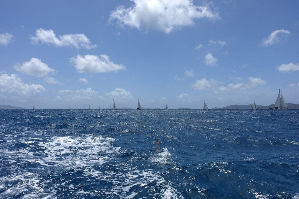 Nanny Cay hinter uns, fünf Tage segeln vor uns