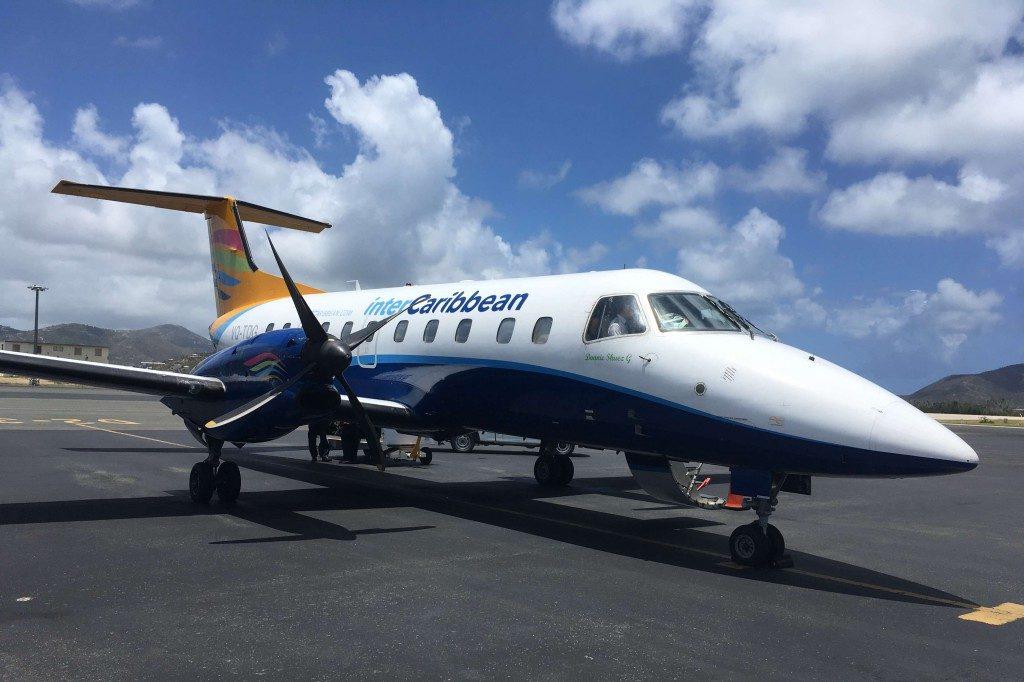Mit dem kleinsten Flugzeug bisher, ging es nach Tortola